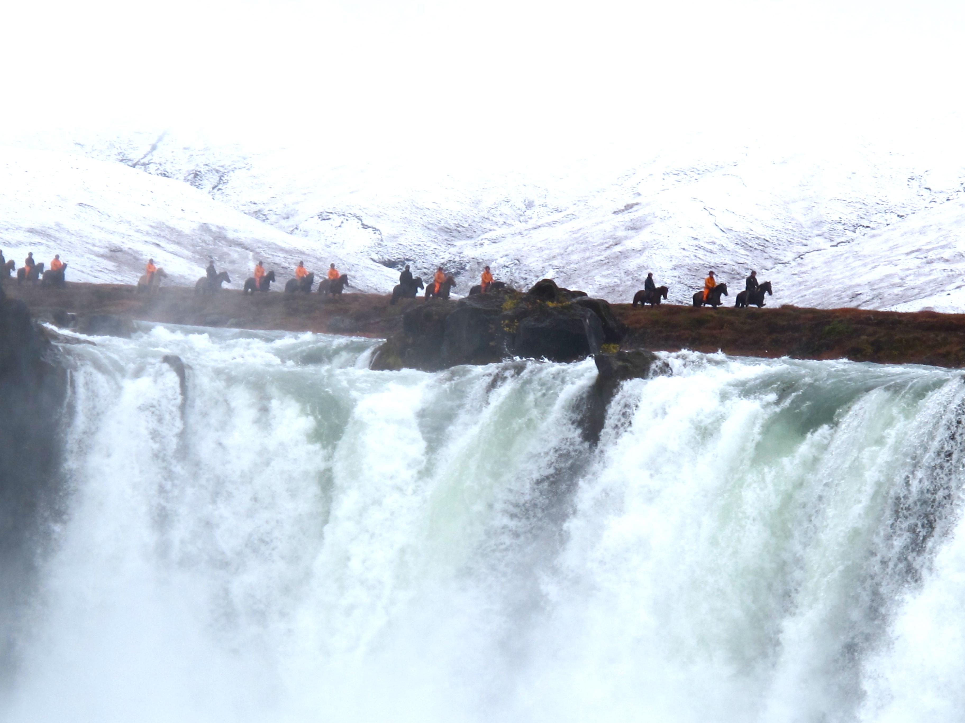 waterfall iceland hest island saltvik